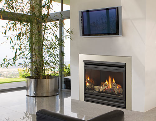 Log Fireplace Heating System
